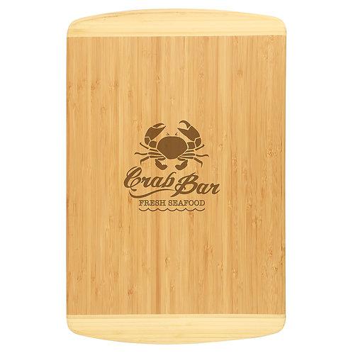 Bamboo Two Tone Cutting Board