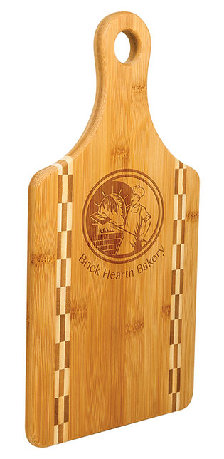 Paddle Cutting Board with Butcher Block Inlay