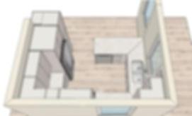 grantham digital kitchen drawing, sky view