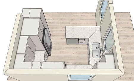 grantham digital kitchen drawing, sky view