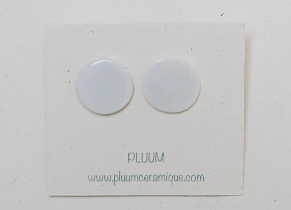 Puces d'oreilles en porcelaine, diamètre 1.5 cm