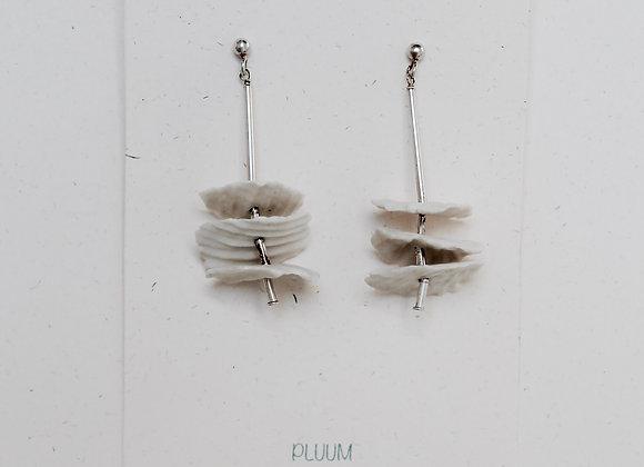 Boucles d'oreilles en porcelaine et en argent 925