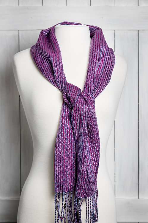 Delicate Patterned Tencel Scarf