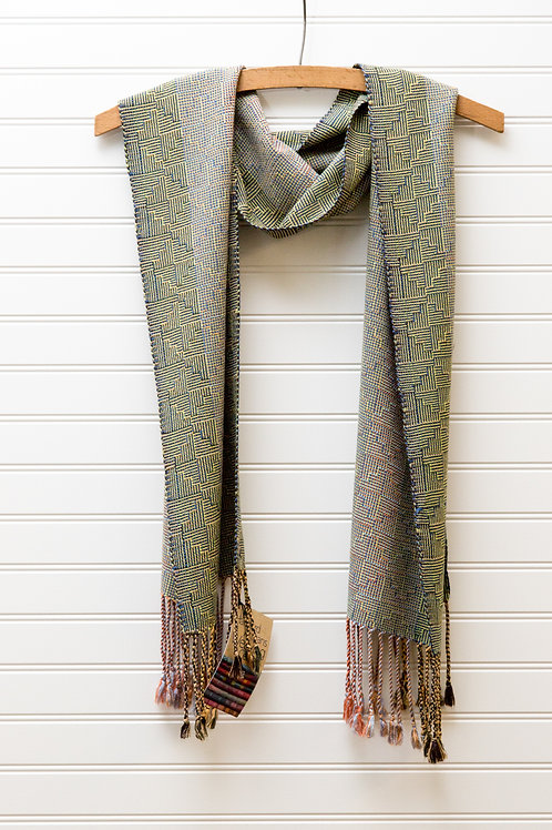 Soft Fine Bamboo Scarf in Shadow Weave