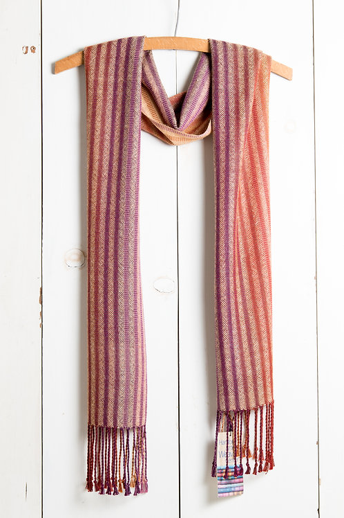 Striped Plain Weave Scarf