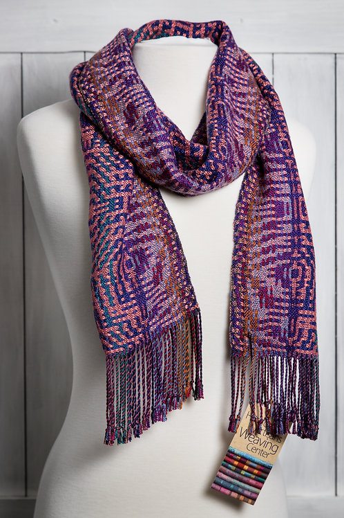 Modernistic Deflected Double Weave Scarf