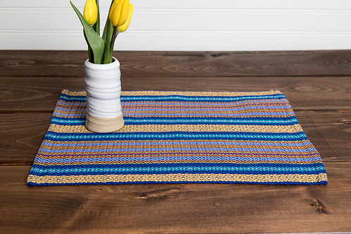 Colorful Striped Twill Placemats