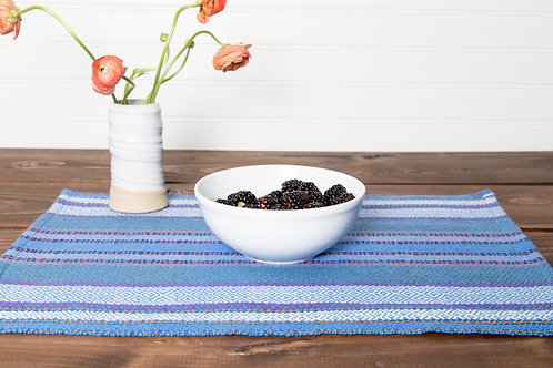 Striped Point Twill Placemats