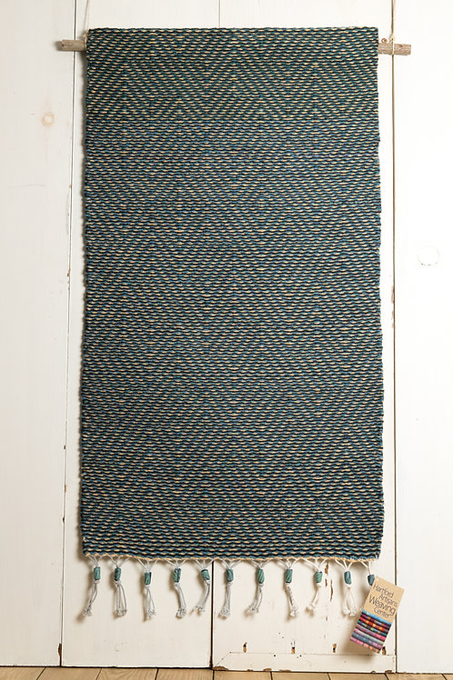 Rustic Wool Wall Hanging with Polymer Bead Trim