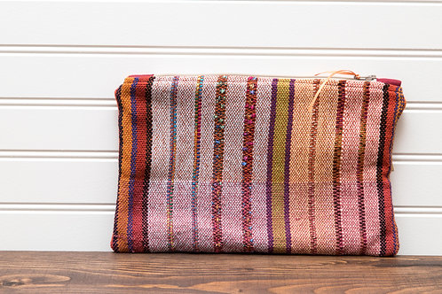 Striped Clutch with Sparkly Highlights