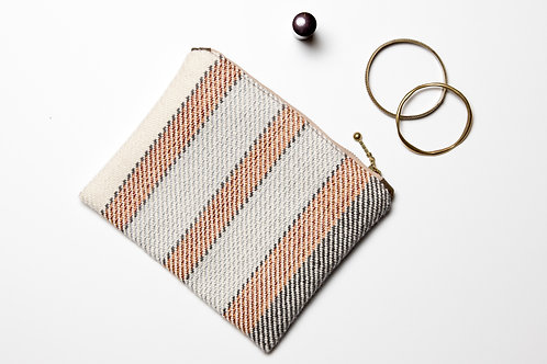 Striped Fine Wool Clutch