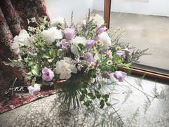 白大康/紫桔梗/白梅/洋甘菊/婚紗捧花