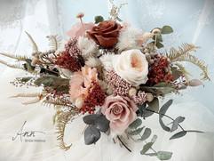 永生花玫瑰乾燥捧花