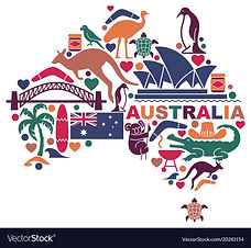 australian-icons-in-the-form-of-a-map-ve