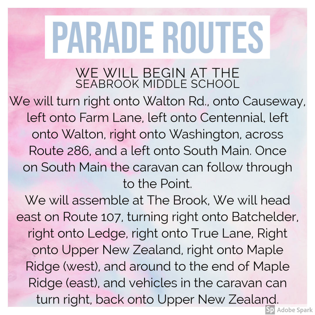 Calendar Parade Route