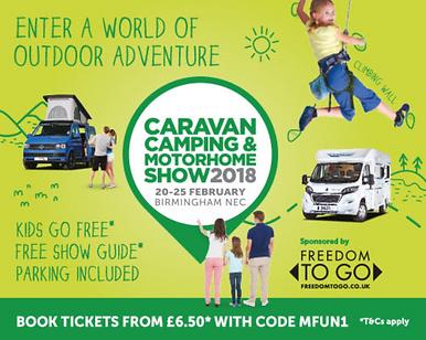 Caravan, camping and motorhom show 2018