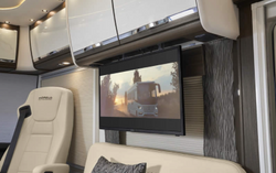 """Drop-Down 32"""" TV & Oyster satellite system - Brochure Image"""