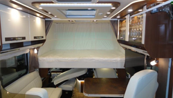 Electrically lowered drop-down bed - brochure image