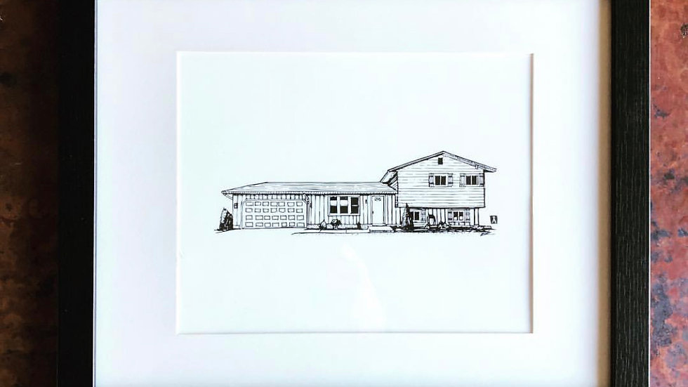 Custom Drawing of Client's Home or Structure