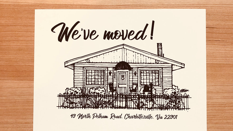 Custom Postcards For Your Clients With A Sketch Of Their Home Included