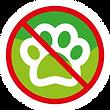 Icono no mascotas