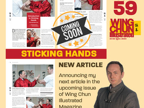 New Wing Chun Illustrated Article - Coming Soon