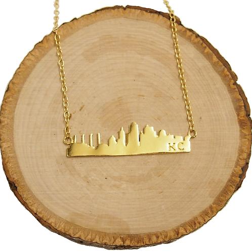 KC Skyline Bar Necklace - Gold Plated