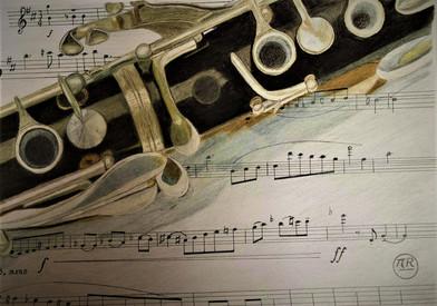 Clarinette sur partition