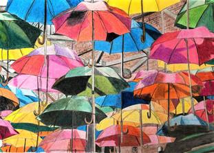 Parasols de toutes les couleurs