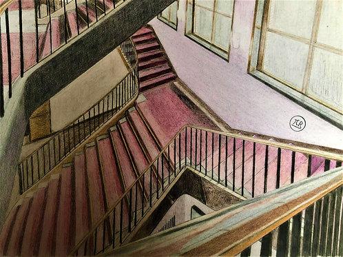 Escaliers de velours