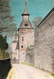 Vue sur la tour de Grandhan