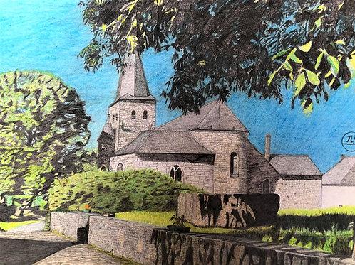 L'église Sainte-Walburge de Wéris.