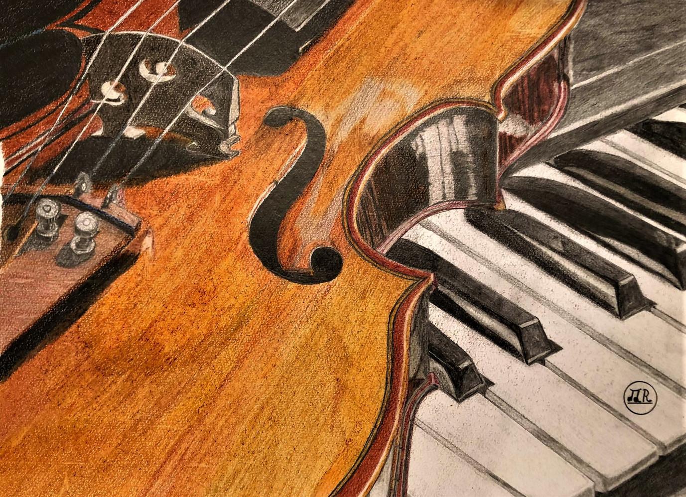 Violon sur piano