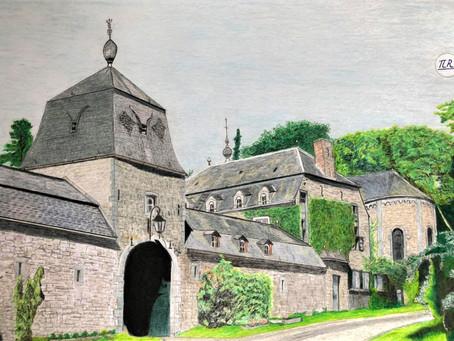 Ferme-Château-Eglise du village de Jenneret.