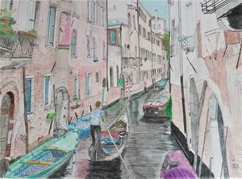 Petite voie d'eau à Venise
