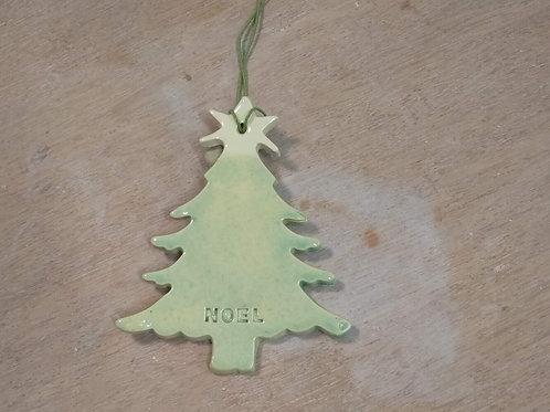 Sapin de Noël -vert et blanc