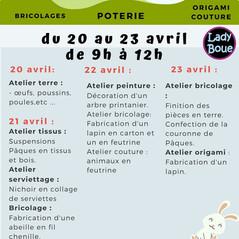Stage de Pâques pour les enfants - ANNULE A CAUSE DE COVIDOU !