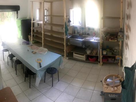 l'atelier est terminé après quelques mois de travaux