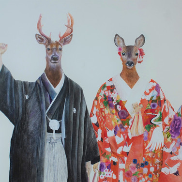 A deer couple (鹿生鹿太), 2019