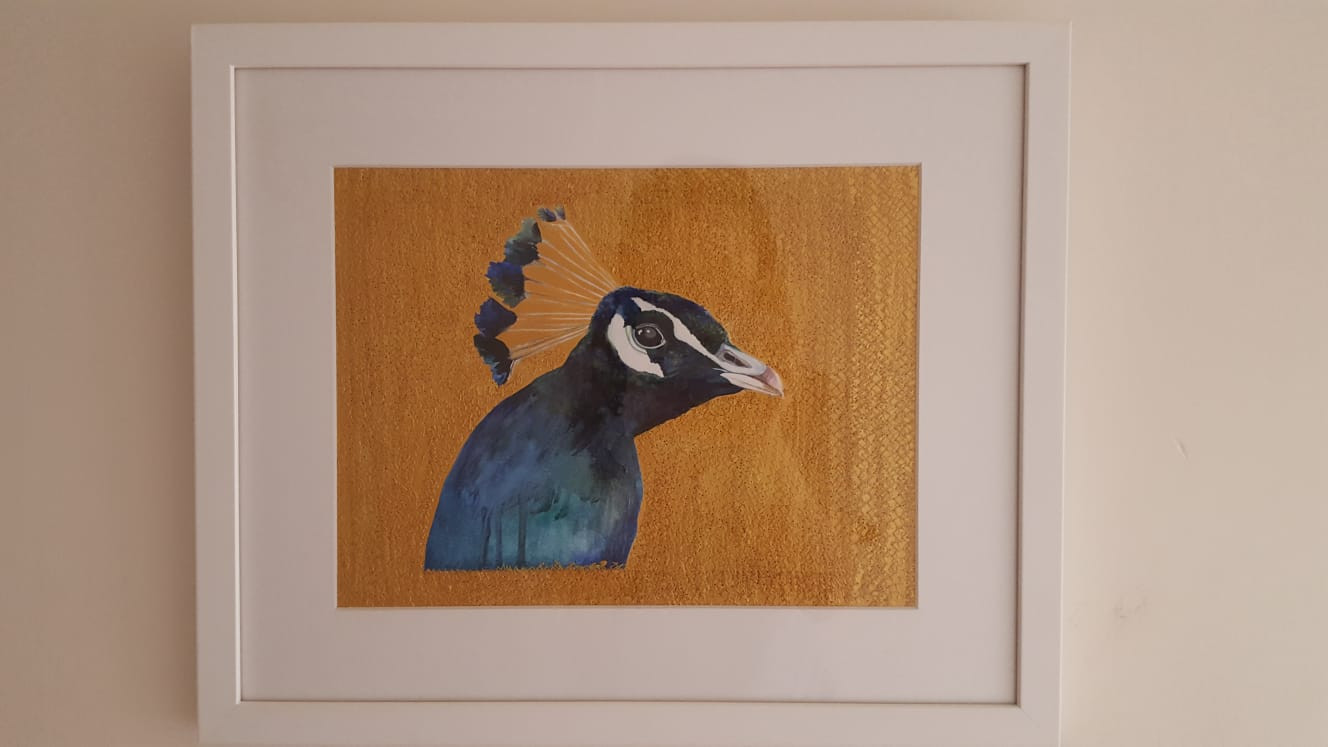 """""""Peacock"""" on a bedroom wall"""