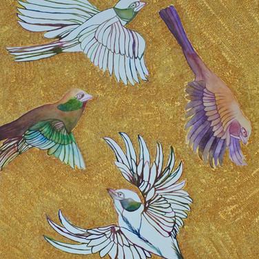 Four birds, 2018