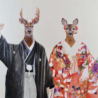 A deer couple