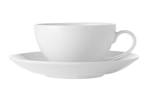 """Чашка с блюдцем """"Белая коллекция"""" 0.25л"""