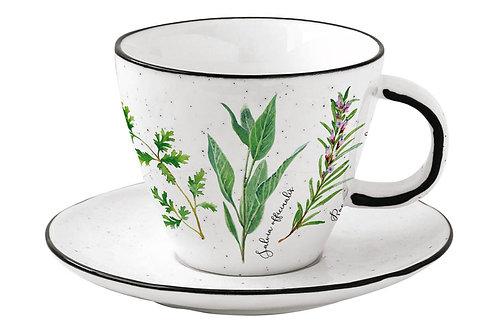 """Чашка с блюдцем """"Herbarium"""" 0.25л"""