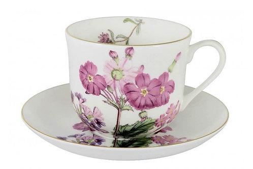 "Чашка с блюдцем (роз.цветы)  ""Лаура"" 0.45л"