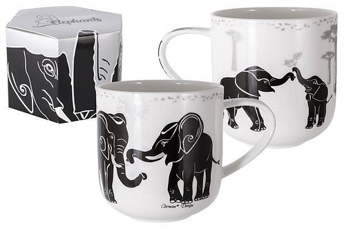 """Кружка """"Слоны.Чаепитие"""" 0.5л"""