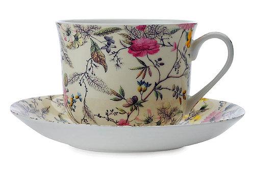 """Чашка с блюдцем """"Летние цветы"""" 0.48л"""