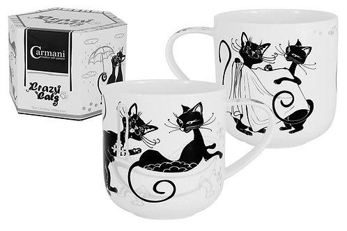 """Кружка """"Crazy Cats. Кошка в ванне"""" 0.5л"""