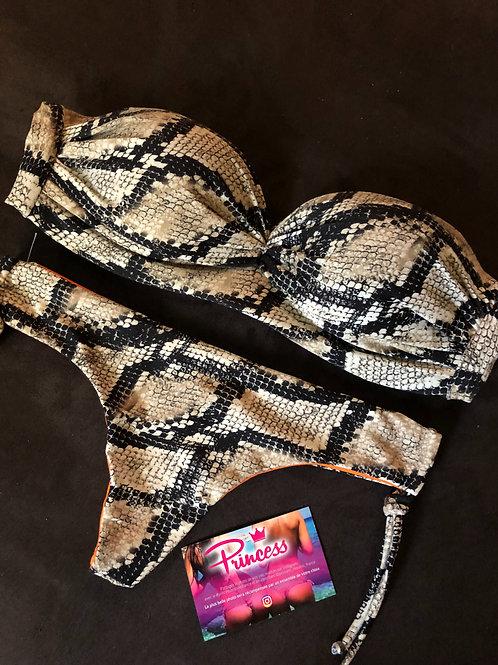 Tanga Push-up Snake Marron
