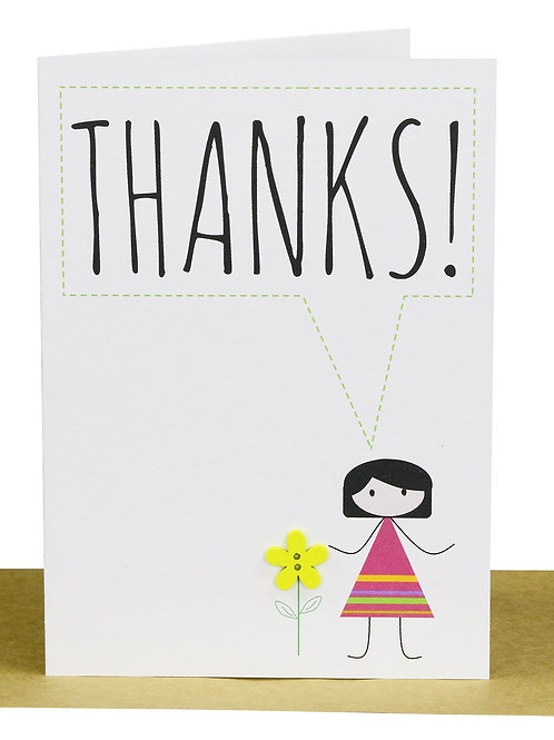 Greeting Card - Thanks! flower girl